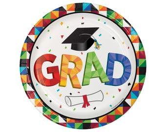 Graduation Plates - Cake Plates - Graduation Party - High School Graduation - College Graduation - Graduation Party Decorations - 2017