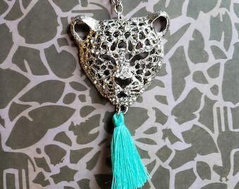 Leopard Tassel Necklace