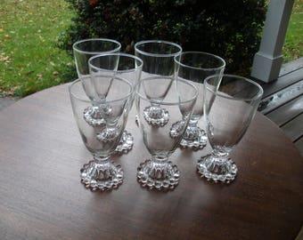 Vintage Set of 7 Anchor Hocking Boopie Goblets or Sherbets - Bubble Line
