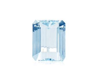 0.41-0.70 Cts of 6x4 mm AA Emerald cut Natural Aquamarine ( 1 pc ) Loose Gemstone-391138
