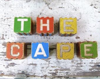 "Wooden ""The Cape"" Blocks"