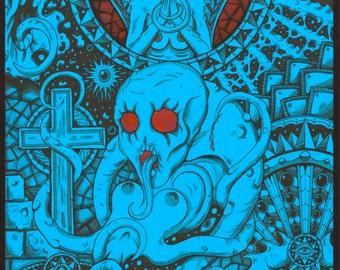 Horror dark art fantasy print Hosadyna