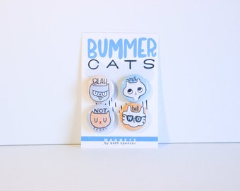 Cat Magnets / Funny Magnets / Refrigerator Magnets / Gift for Cat Lady / Funny Cats / Cat Gift / Crazy Cat Lady / Best Cat Lady Gifts / Cats