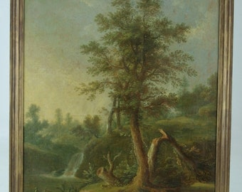 B436 Large Early 19th Century French Oil on Canvas, Unsigned