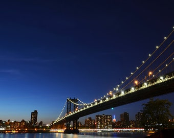 Manhattan Bridge in Color New York City, Wall Art. Bridge photography. New York Photography. City Photography,New York Print