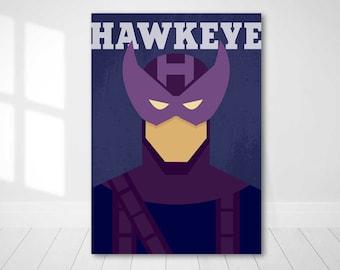 Poster Hawkeye / Hawkeye / Superhero Poster / Hawkeye Minimalist / Hawkeye Art / Hawkeye Print / Gift Hawkeye / Home Decor Hawkeye