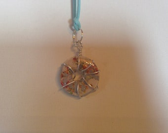 Washer Charm on Suede Strap