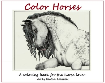Color Horses Coloring Page Set (5 pages)