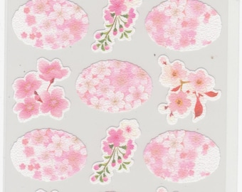 Cherry Blossom Stickers - Japanese Paper Stickers - Hallmark - Reference A3047A5359