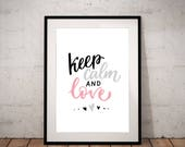 Keep calm and love - INST...