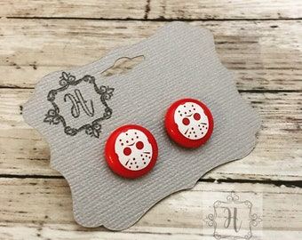Jason Earrings Friday the 13th Earrings Horror Jewelry Jason Jewelry Friday the 13th Jewelry Horror Earrings Alternative Jewelry