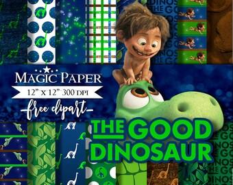The Good Dinosaur Digital Paper - Clipart Clip Art - Instant Download