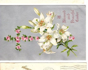 Vintage Lot of 3 Antique 1900's Happy Easter Greetings Postcards