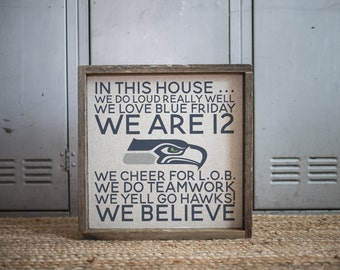 We Are 12  // 13x13 Handmade Sign