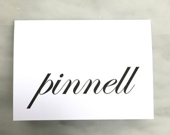 Name Note Card - Ever So Pretty Paperie