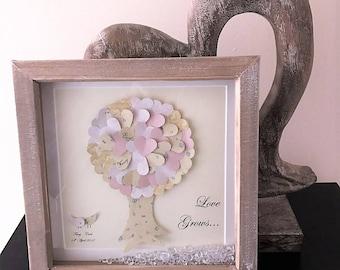 Cadeaux de mariage arbre de vie de cadeau de mariage personnalisé pour couple mariage cadeaux personnalisés Family tree art papier cadeau premier anniversaire