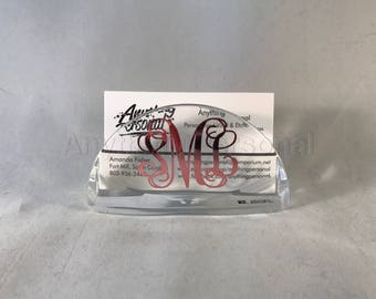 Personalized Gift, Monogram Gift, Business Card Holder, Personalized Desk, Monogrammed Desk, Business Gift, Professional Gift, Office Gift