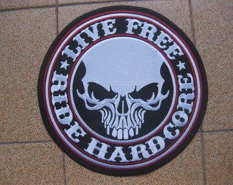 """RIDE HARDCORE Chopper Motorcycle PATCH 9.7"""""""