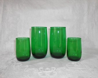 Forest Green Anchorglass Tumblers Juice