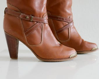 1970s Zodiac Wrap Boots // Women's Size 5-1/2 (5.5) to 6
