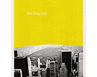 New York City Art Print (View of Central Park NYC) - World Traveler Series Pop Art Skyline Poster - Available in 56 Colors - NYC037
