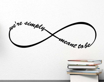 We're simply meant to be Jack and Sally Nightmare Before Christmas inspired wall art vinyl decal inspired Vinyl Wall Decal Quote Stencil Art