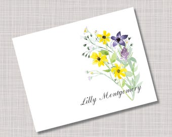 Custom Wildflower Mother's Day Gift Note Cards