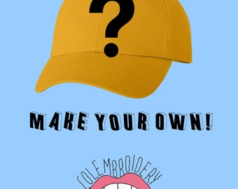 customize your own hat [ hand embroidered apparel ]