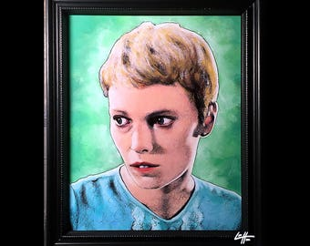 Rosemary Woodhouse - Original Drawing - Rosemarys Baby Mia Farrow Roman Polanski Horror Dark Art Lowbrow Demon Satan Evil Mystery Thriller