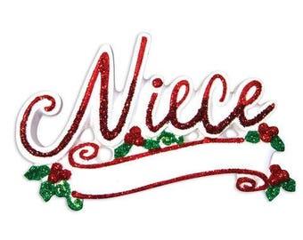 New Niece Ornament Niece Christmas Ornament Niece Gift Ornament Niece Personalized Christmas Ornament Family Ornament
