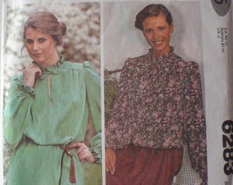 Vintage McCall's Make It Tonight Easy Sewing Pattern - Pullover Blouse - McCall's 6283 - Size 14, Bust 36