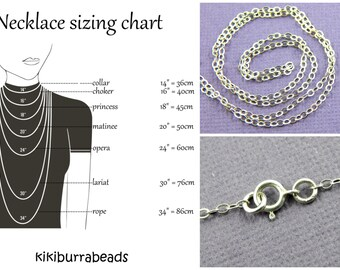 Finished Sterling Silver Chain Necklace, Sterling Silver Necklace, Sterling Silver Necklace
