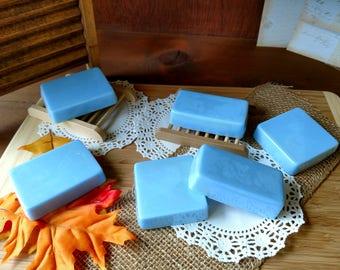 Clean Soap Fresh Soap Lavender Soap Blue Soap White Soap Handmade Irish Linen Soap Bars Soap for Him