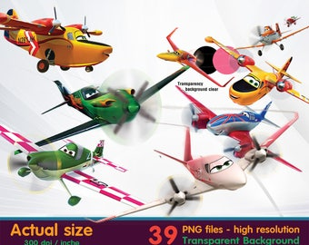 Planes clipart - fire & rescue-  Digital 300 DPI PNG Images, Photos, Scrapbook, Cliparts - Instant Download