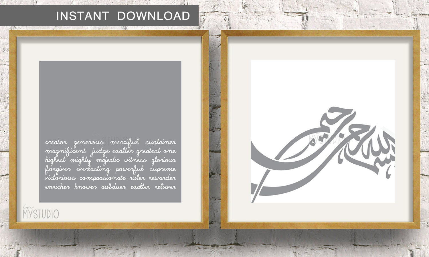 Instant Names of Allah Know your Creator Set of 2 Islamic