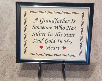 Grandfather's Day 8x10 Plaque Grandfather's Day Gift