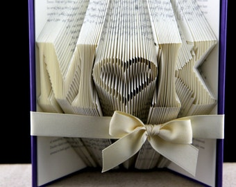 Birthday Gift For Her Folded Book Custom Gift For Girlfriend, Origami Book Birthday Gift, Anniversary Gift For Girlfriend, Book Art