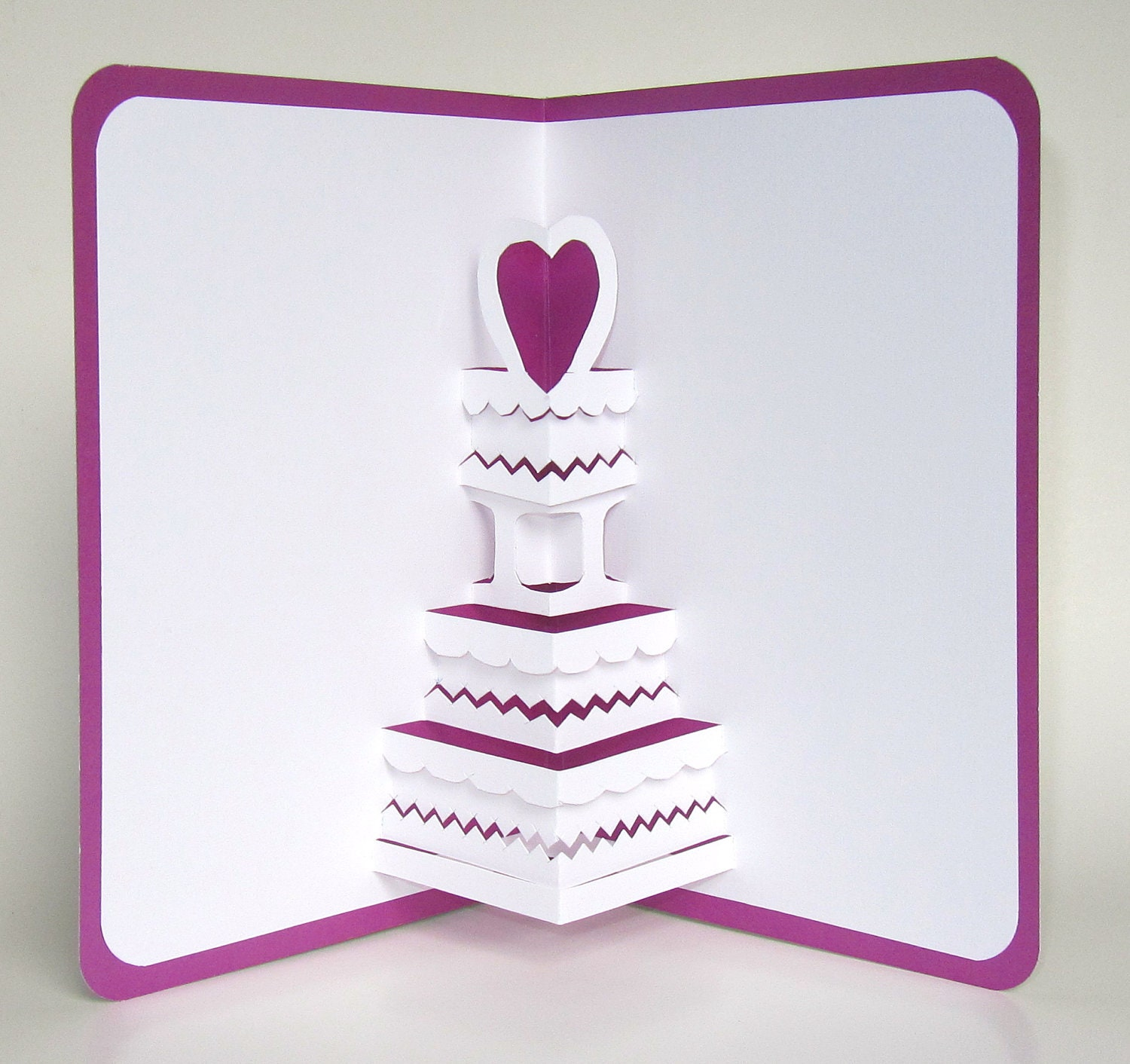 SAVE THE DATE Wedding Cake 3D Pop Up Greeting Card Valentines Il Fullxfull  Save The Date Wedding Cake 3d Pop Up Birthday Cake Card Template  Birthday Cake Card Template