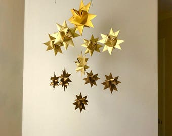 Paper Star Mobile -'Ursa Major' Ombre Gold