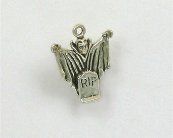 Sterling Silver 3-D Dracula Charm