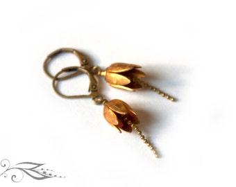 Lily of the Valley - earrings in brass