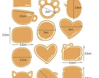Self-adhesive labels - print labels various patterns