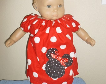 Bitty Baby Minnie Mouse Peasant Dress with Matching Panties