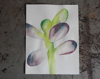 Bright Succulent Watercolor Painting