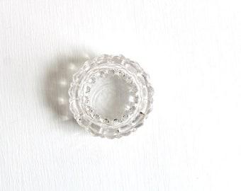 Clear Glass Salt Cellar, Clear Salt Cellar, Glass Salt Cellar, Salt Cellar Clear Glass Ring Dish Ring Holder Clear Ring Dish Glass Ring Dish