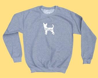 """Chihuahua """"MAMA"""" - Dog Mama Crewneck Sweatshirt"""