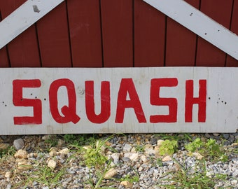 Vintage Squash Sign, Farm Market Sign, Long Wood Farm Sign, Restaurant Decor, Farm Stand Sign, Produce Sign from South Jersey Farm