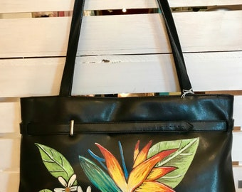 Hand Painted Purse- Bird Of Paradise Lost