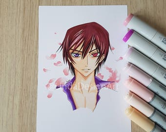 Original Artwork - Custom Portrait - Code Geass - Kids Room - Girls Room - Custom Character - Original Illustration - Anime Illustration
