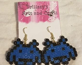 Space Invader Aliens Perler Earrings